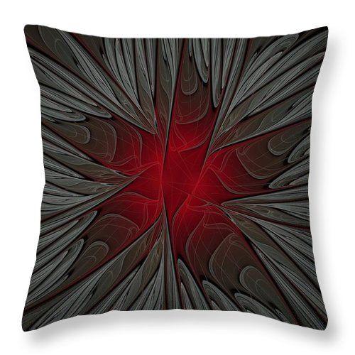 Fractal Throw Pillow featuring the digital art Merry Christmas by Elena Ivanova IvEA  #ElenaIvanovaIvEAFineArtDesign #Design #Pillow #Cushiоn #HomeDecor #Gift
