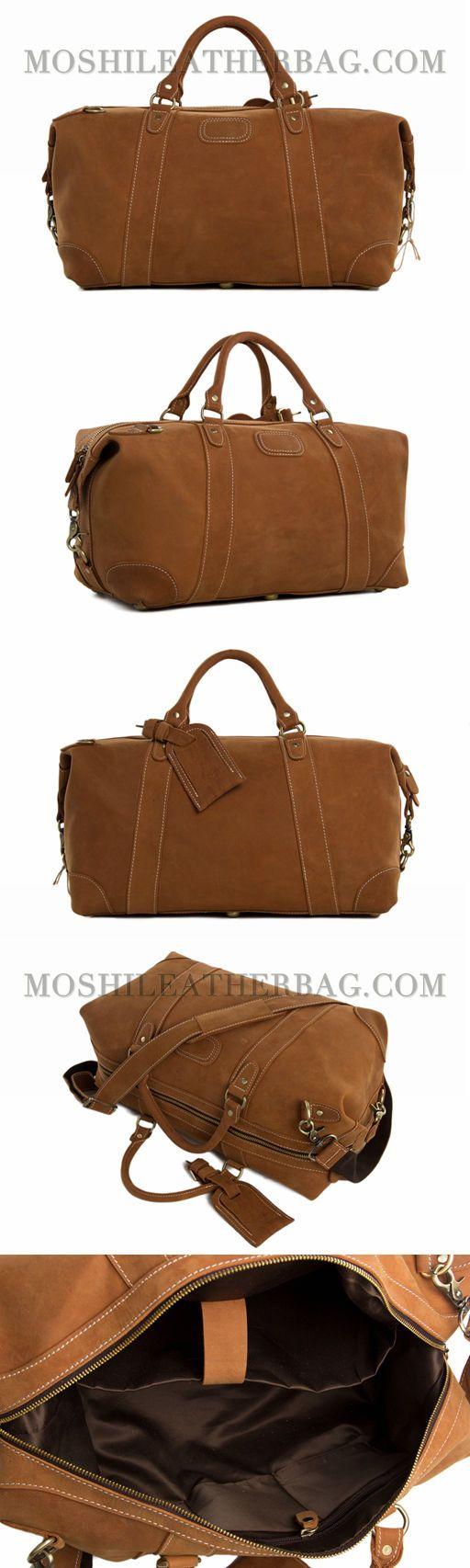 Handcrafted Genuine Leather Travel Bag, Duffle Bag, Overnight Bag, Weekender Bag DZ02
