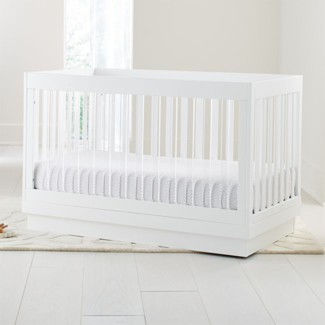 Babyletto Harlow Acrylic And White 3 In 1 Convertible Crib