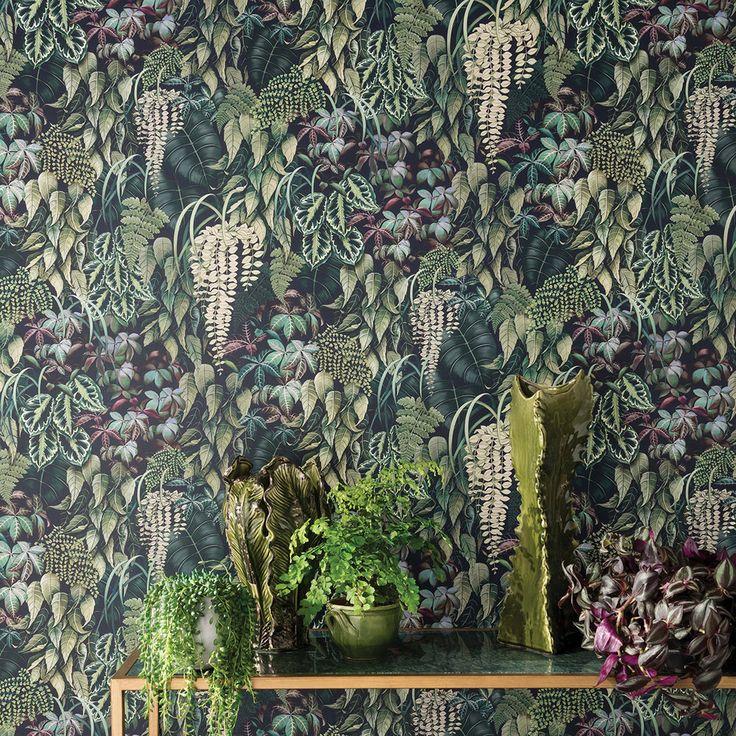 Green Wall by Osborne & Little Emerald Green Wallpaper