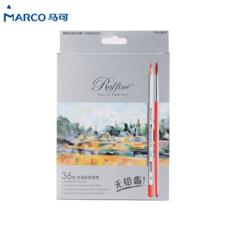 Marco Raffine Fine Art Colored Pencils Lapis de cor Professional Painting Watercolor Pencil Drawing Art Supplies 24/36 color