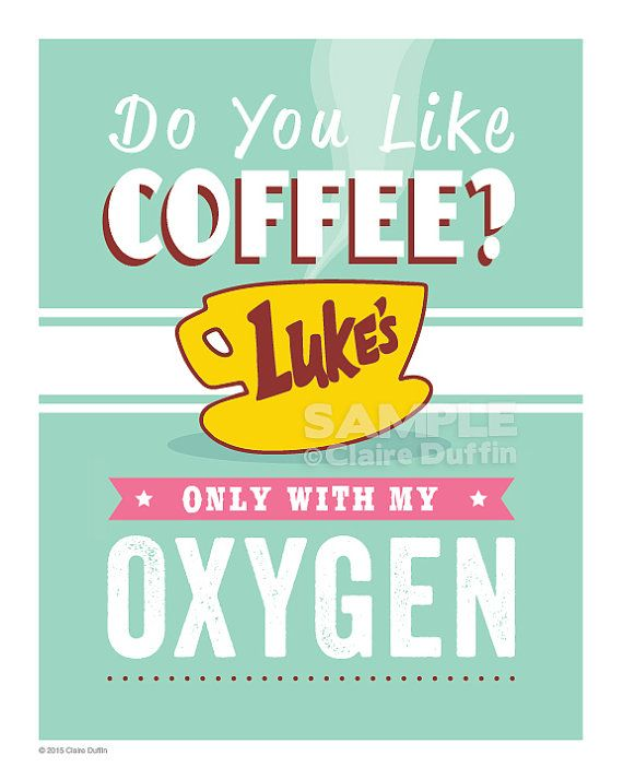 Do You Like Coffee Gilmore Girls Quote Art by OperationPumpkin