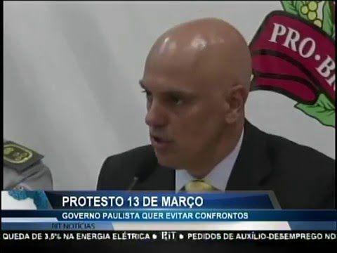 Governo paulista quer evitar confrontos em protestos no dia 13 de março