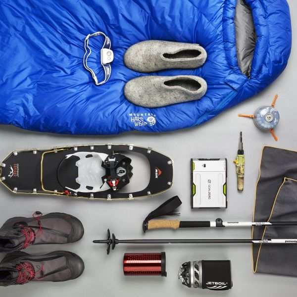 From snowshoes to headlamps to slippers, here's everything you need to get to, and enjoy, that backcountry hut.