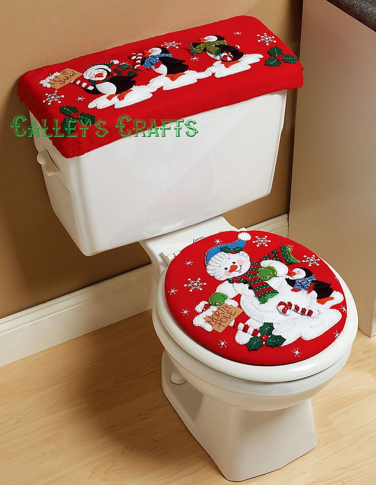Bucilla North Pole Parade Felt Christmas Bath SET KIT 86311 Frosty Penguins | eBay