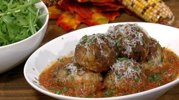 Mario Batali's Big Turkey Meatballs  - Polpette Di Tacchino