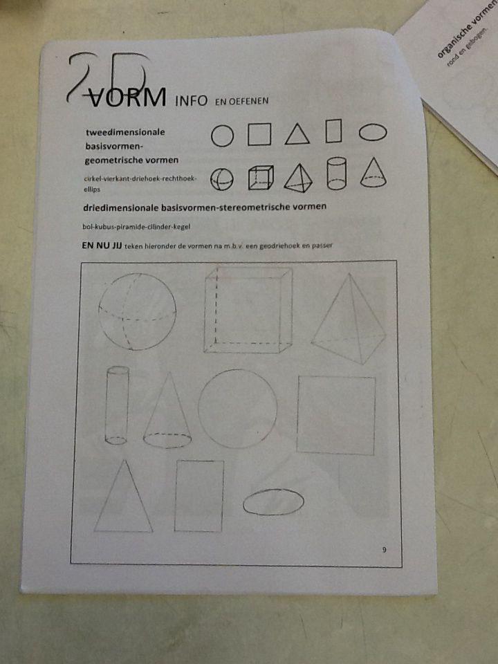 Tweedimensionale basisvormen-geometrische vormen en driedimensionale basisvormen-stereometrische vormen