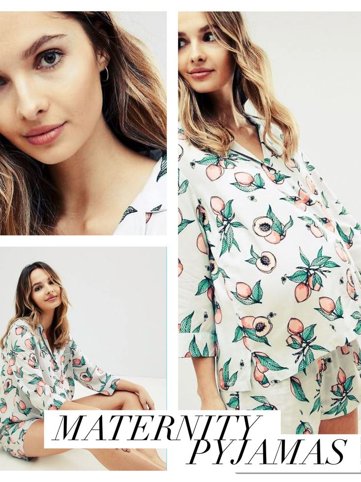 Cute maternity pyjamas ***tap anywhere on the image to show sizing options*** print, shorts, nightwear, buttons, pregnancy, bump #ad #aff
