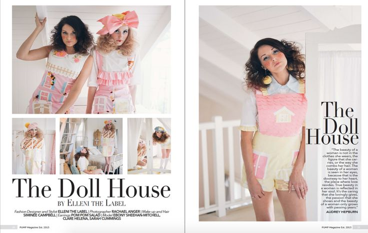 Dollhouse by Elleni the Label in Pump Magazine. Click to see details of Dollhouse Shoot