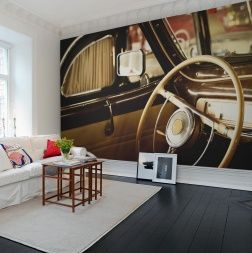 Photo Mural Of The Old Car Interior   #Wall Murals #Rebel Walls. View