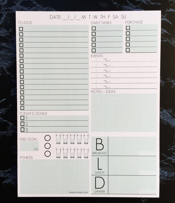 Daily Page Notepad Single by ThymeIsHoney on Etsy