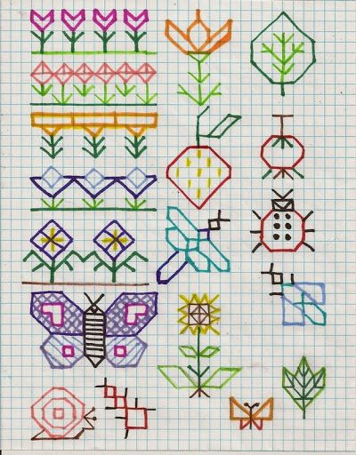 """Holbein embroidery """"doodles"""""""