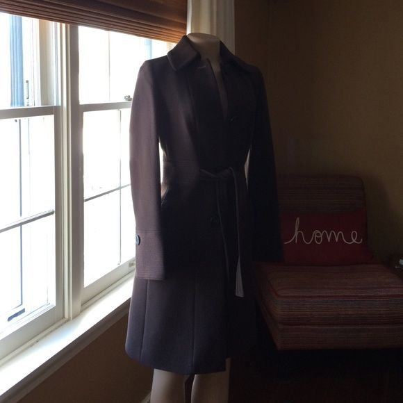J crew coat Gorgeous J crew brown coat.  Classic J crew!  Worn once or twice.  Like new.  Inside has striking lining. J. Crew Jackets & Coats