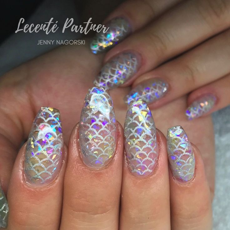 309 best nails by jenski2008 images on pinterest cnd shellac encapsulated lecente crushed ice in lp mermaid nails prinsesfo Gallery