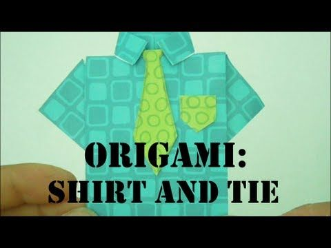 Easy DIY Origami Shirt and Tie for Father's Day!