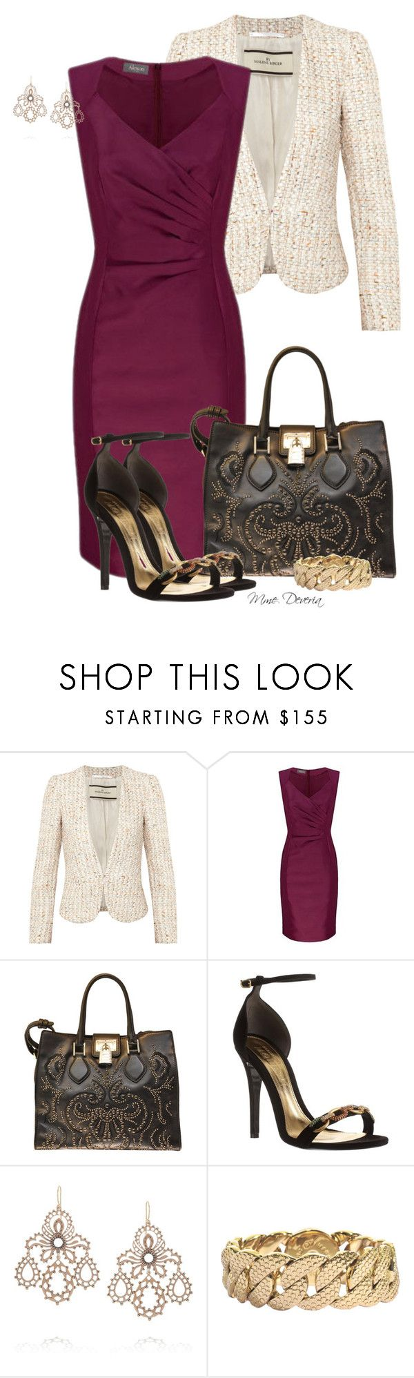 """""""Studs and chains"""" by madamedeveria ❤ liked on Polyvore featuring By Malene Birger, Alexon, Roberto Cavalli, Alexander McQueen, Laurent Gandini and Marc by Marc Jacobs"""