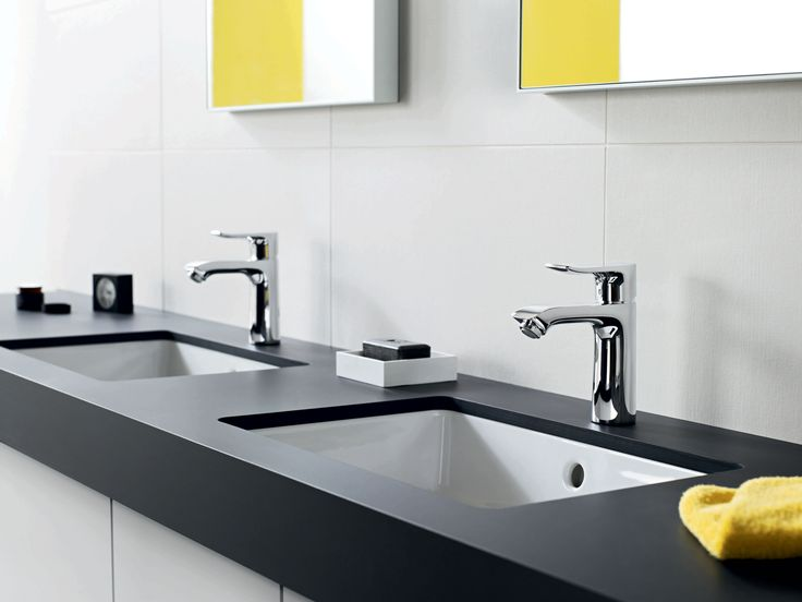 Photo Image Hansgrohe Metris Single Hole Faucet double vanity