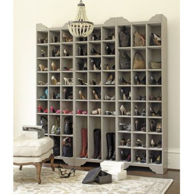 This would be great hidden behind doors with hooks for jackets etc on the outside, in a mudroom.