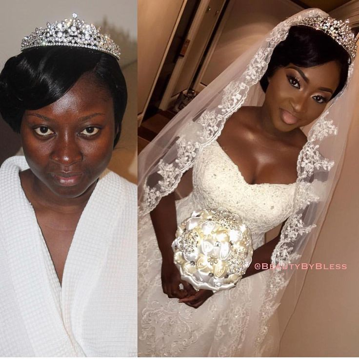 Stunning bridal transformation. ✨ Makeup by @beautybyblesss.  #africansweetheartweddings #bride #nigerianwedding #beauty