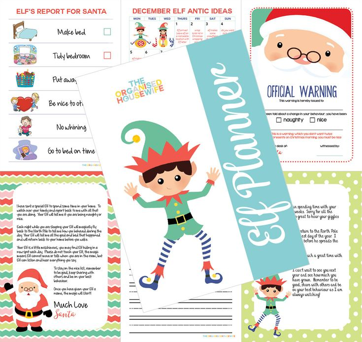 The Elf Planner is filled with 1 month of Elf on the Shelf antic ideas, pages to encourage the kids to write and draw about their elf stay, 30+ notes from Santa and Elf to be left alongside Elf each night, editable (you can add your childs name and some text) letters from Santa and Elf, a list of suggested elf names and pages to help improve and acknowledge good and bad behaviours. Because… Elf returns to the North Pole each night and let's Santa know if they are being naughty or nice…