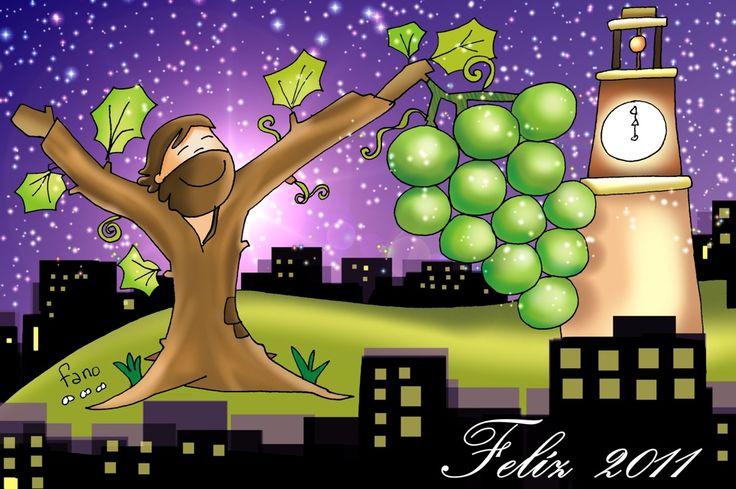 Que todo el año nos alimentemos de las uvas de la vid verdadera.
