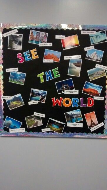 Image result for geography classroom decorating ideas for jr. high school