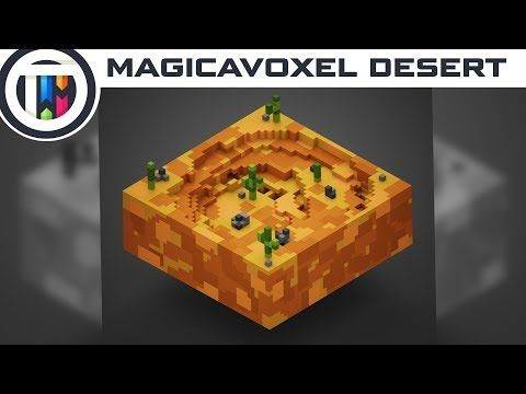 Today, we create a voxel styled desert in MagicaVoxel