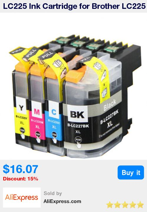 LC225 Ink Cartridge for Brother LC225 LC227 Full Ink For Brother MFC J4420DW J4620DW J4625DW J5320DW J5620DW J5625DW J5720DW * Pub Date: 13:26 Oct 21 2017