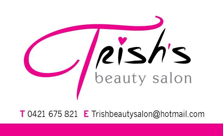 Trish's Beauty Salon Business card (Front)