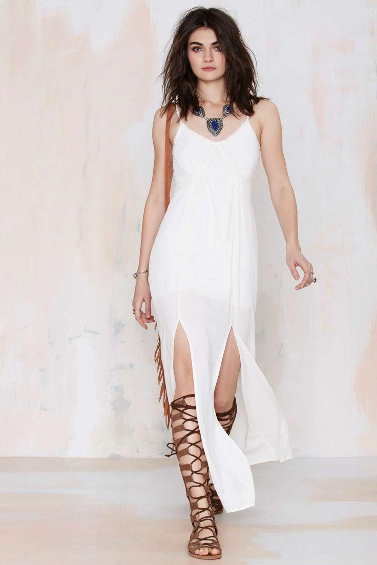 Aphrodite Crepe Maxi Dress