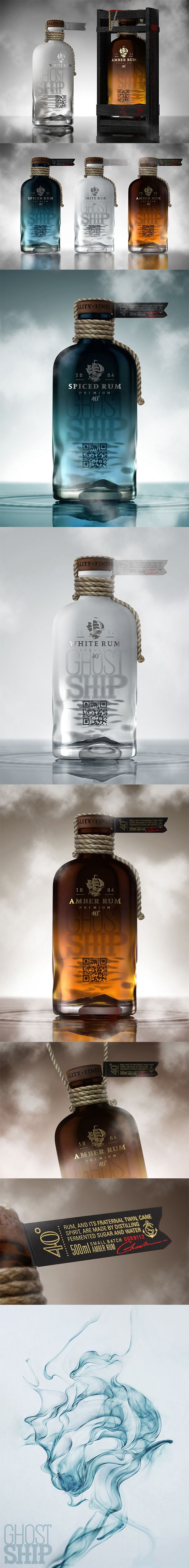 Ghost Ship Rum #packaging design and product photography