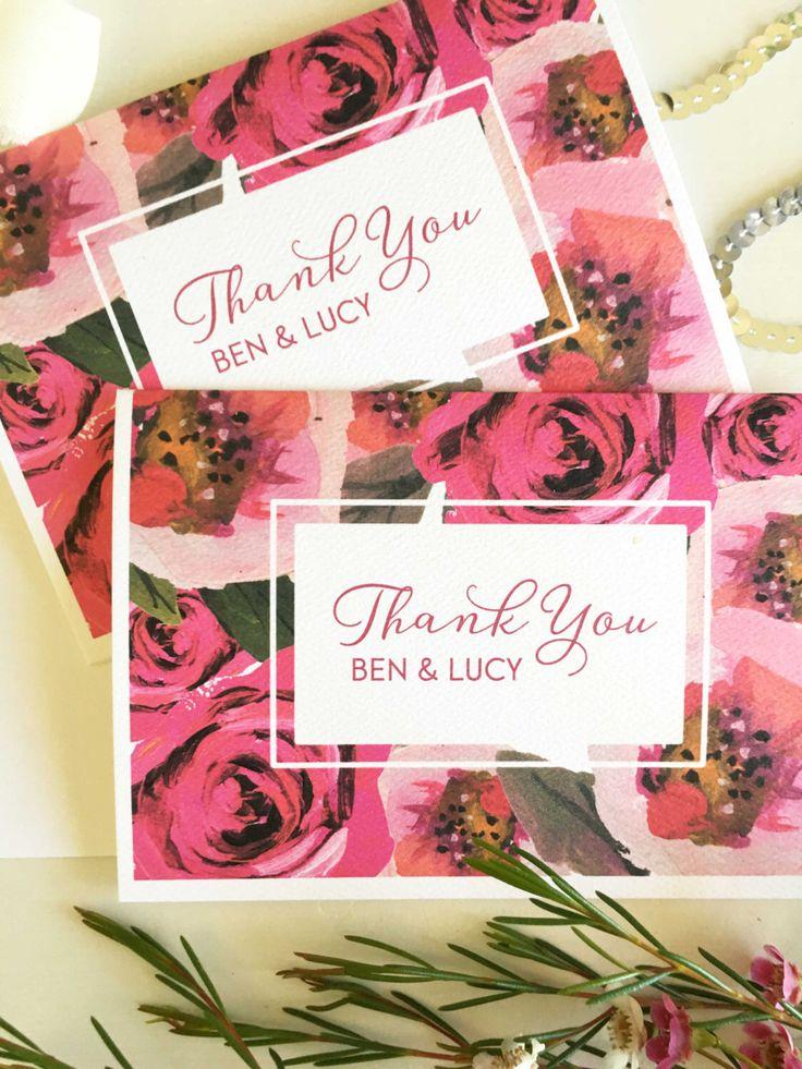 Wedding Thank You Cards - Personalised Thank You Cards - Wedding Thank You Template - Thank You Cards - Thank You Cards Wedding - Thank You by CocoPressDesigns on Etsy https://www.etsy.com/au/listing/476936192/wedding-thank-you-cards-personalised