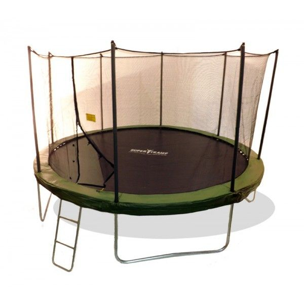 12 Foot Super Tramp Superflyer Trampoline With Enclosure And Ladder Competitive Price And Free Delivery Supertramp Trampoline 12ft Trampoline Kids Trampoline