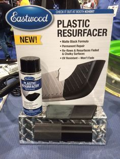 Price: $29.99 %0APlastic restorers are a growing product segment, but Eastwood's was definitely the most impressive example we saw at this year's show. By breaking down the plastic's surface on a microscopic level and introducing black resin back into the material, Eastwood's solution creates a durable, like-new finish that they say is good for more than 7000 quv hours. %0A  - PopularMechanics.com