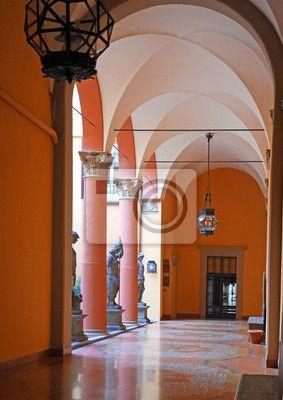 Sticker Italië, Bologna oude middeleeuwse typische portiek