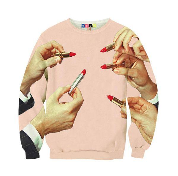lipstick sweatshirt
