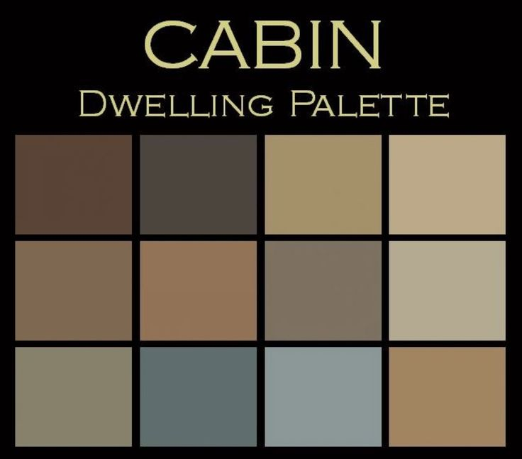 The cabin paint color palettetm warm cozy your own for Interior paint colors for rustic homes