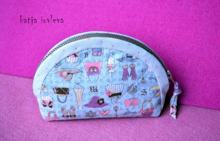 Mini cosmetic bag - Mini zipper pouch by kiquilt on Etsy