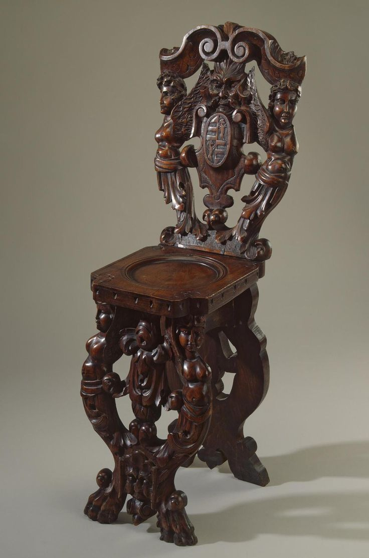 Savonarola chair italian renaissance - Scabello Chair With Coats Of Arms And Mascarons Italy Second Half Of The 16th
