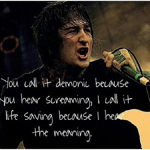 "Mitch Lucker Quote Mitch lucker quotes on life Very true. Most ""screamo"", ""heavy metal"", or ""goth"" bands have song lyrics that are beautiful poetry. If you wrote out the lyrics and spoke them aloud, you would truly understand."