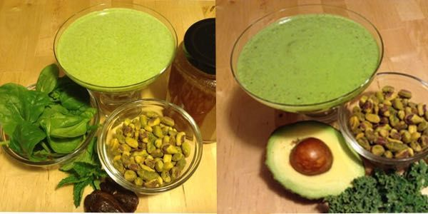 Healthy Shamrock Smoothies. Get the recipes at: http://kristenyarker.com/blog/healthy-shamrock-smoothies