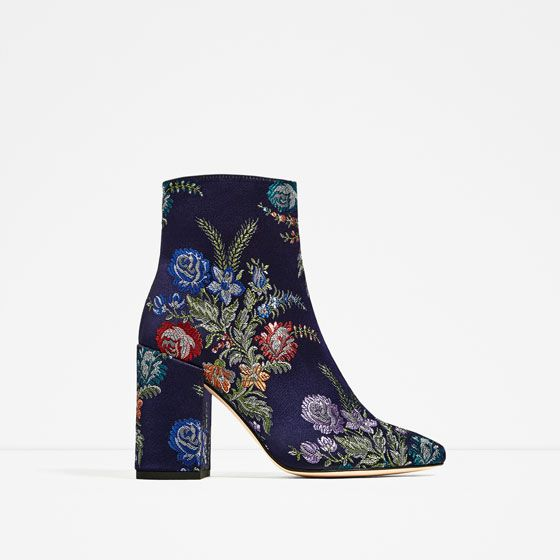 Image 2 of EMBROIDERY DETAIL ANKLE BOOTS from Zara