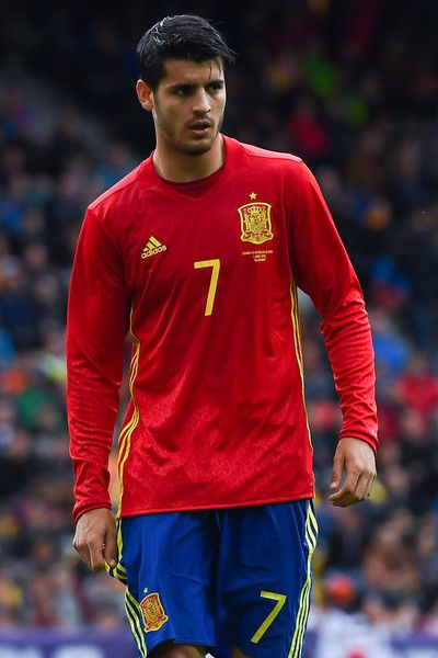 Alvaro Morata of Spain looks on during an international friendly match between Spain and Korea at the Red Bull Arena stadium on June 1, 2016 in Salzburg, Austria.