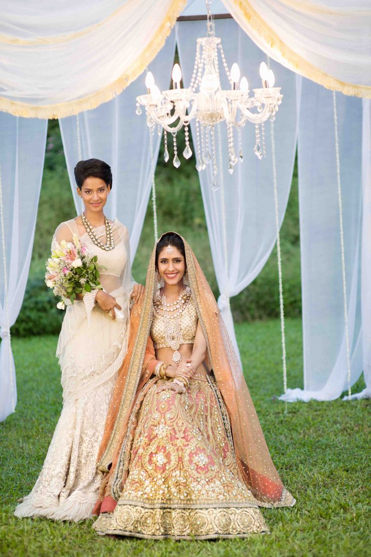 The bride and the bridesmaid - In Sabyasachi @Charity King this is a good idea for my wedding! Or yours haha