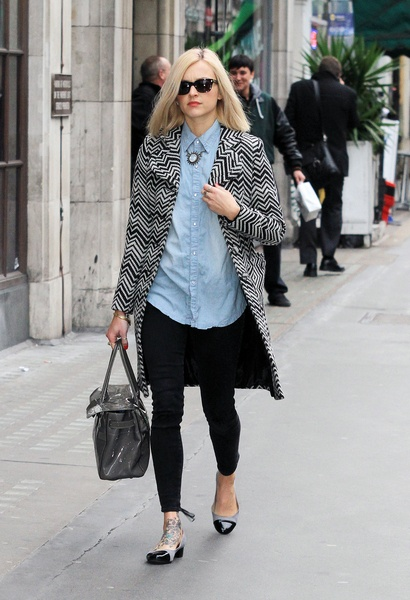 Fearne Cotton does double denim