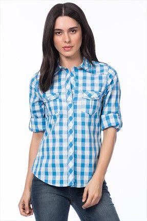 Koton Kadın Mavi Kareli Gömlek    Kadın Mavi Kareli Gömlek Koton Kadın                        http://www.1001stil.com/urun/4476382/koton-kadin-mavi-kareli-gomlek.html?utm_campaign=Trendyol&utm_source=pinterest