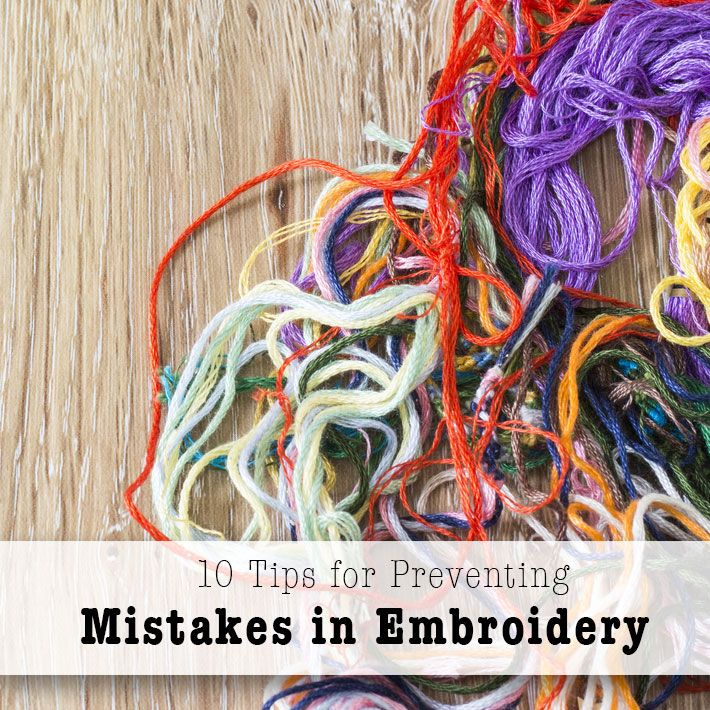 Find out how to prevent or avoid common embroidery mistakes before they happen with these 10 tips & tricks from expert Mary Corbet. On Craftsy!