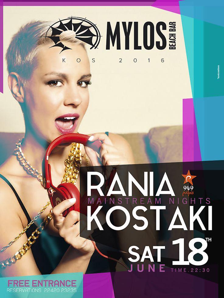 Rania Kostaki @MylosBeachBar 18/6 #DontMissThis #ItsOfficiallySummerWhen  #thePartyBegins