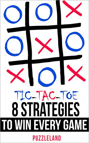 "In the book ""Tic Tac Toe:8 Strategies To Win Every Game"", Puzzleland presents for the first time a simple and easy system of 8 easy strategies with which you will never, ever, lose a Tic Tac Toe game again. Learn this system and BE UNBEATABLE! Keywords: tic tac toe strategy, how to win at tic tac toe, how to always win at tic tac toe, tic tac toe tricks, tic tac toe cheats"