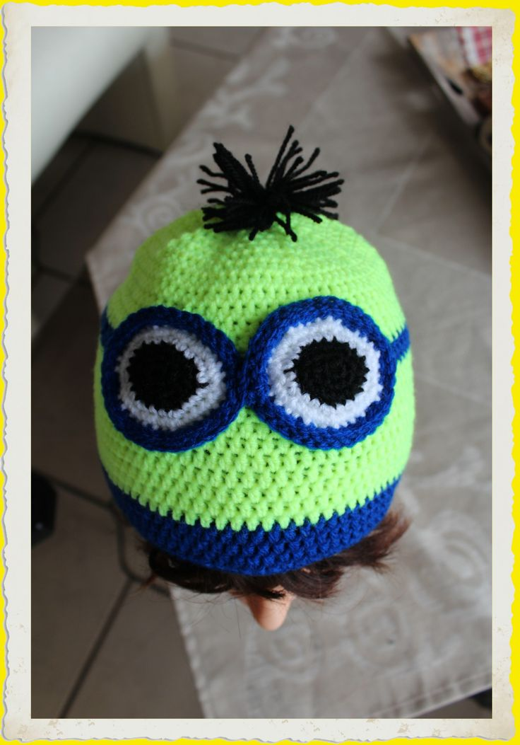 Passend zur Sicherheitsweste für Schulanfänger- neonfarbene Mütze für mein Enkelkind